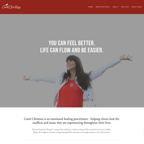 Emotional Healing Practitioner Website