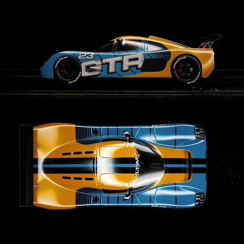 ultima race car wrap design