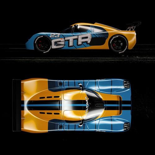 ultima race car wrap design
