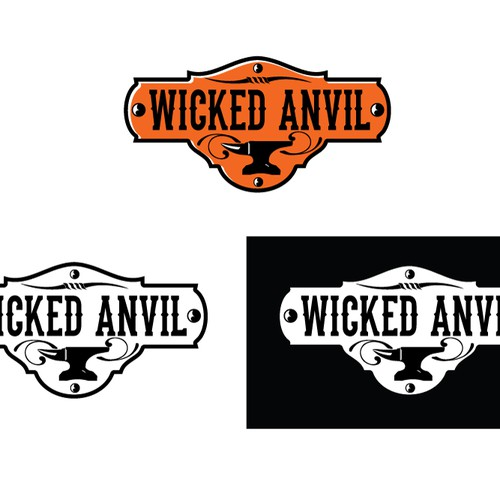 Let your inner wild child cut loose on a logo for Wicked Anvil.