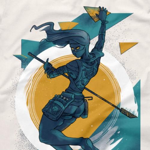 Ninja Climbing Tshirt Design
