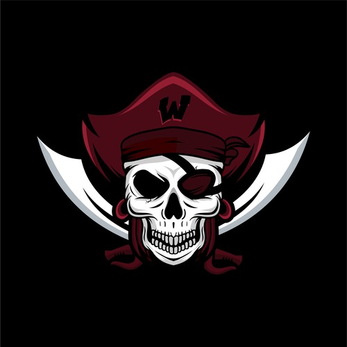 Woman's pirates logo designs