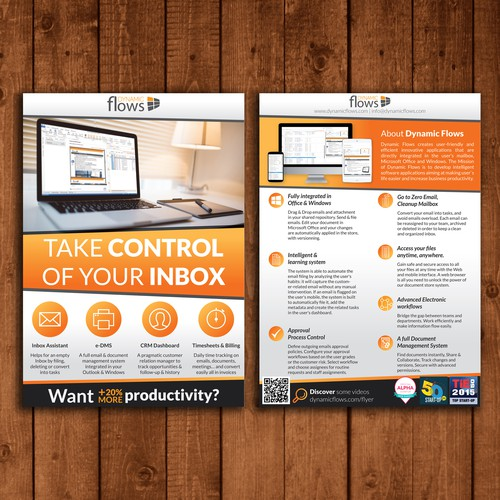 Full color double-sided Flyer for Dynamic Flows