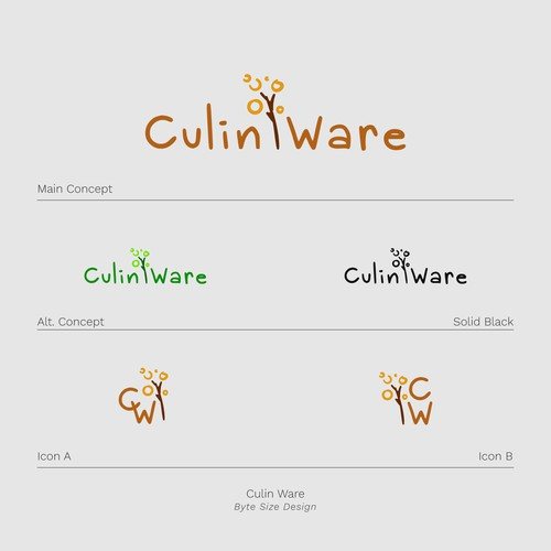 Logo:: Culin Ware (Brown/Gold)