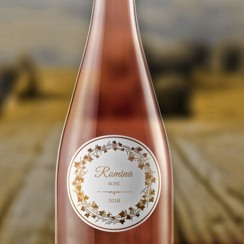 Wine bottle premium label design