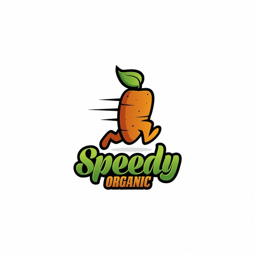 Logo for a organic foods company
