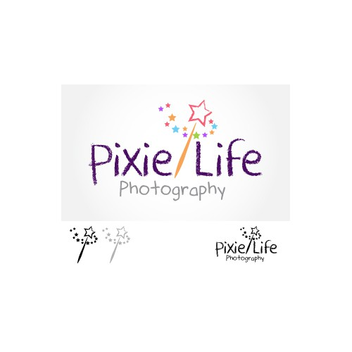 Logo design for pixie life photography
