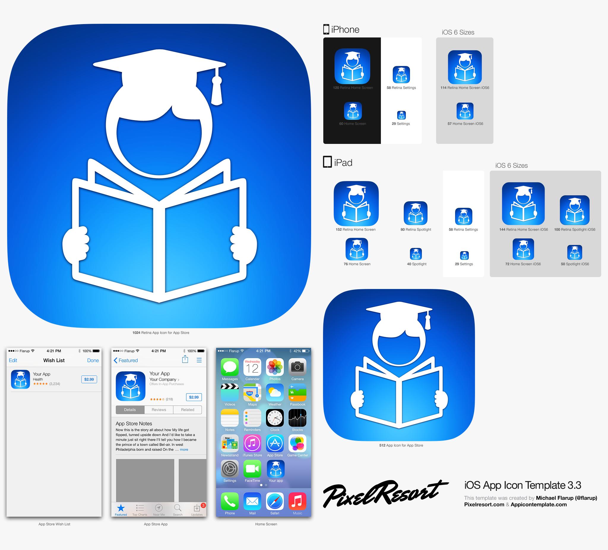 Create an iOS icon for learning/flashcard app