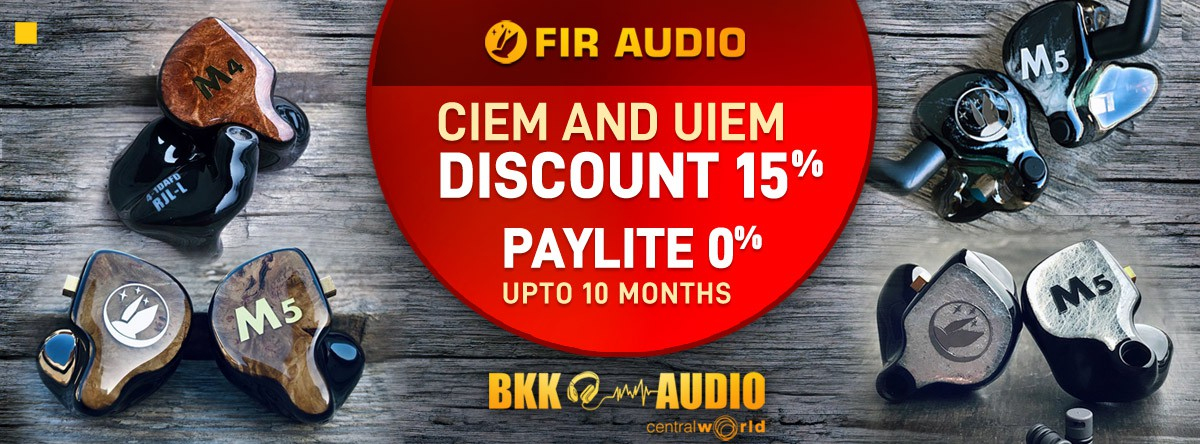 Banners ads for Fir Audio discount 15% and PayLite 0% upto 10 months.