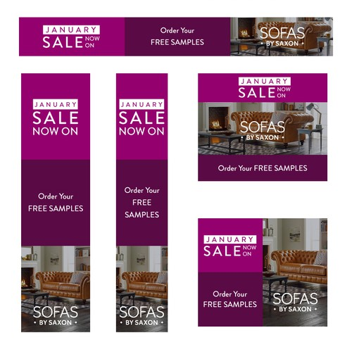 Banner ads design for Sofas By Saxon