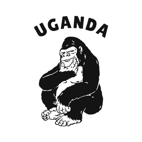 Ugandan Handsome Gorilla