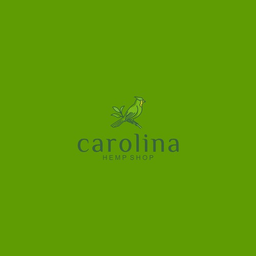Need 'Green Cardinal' Logo Design for Carolina Hemp Shop in Raleigh NC