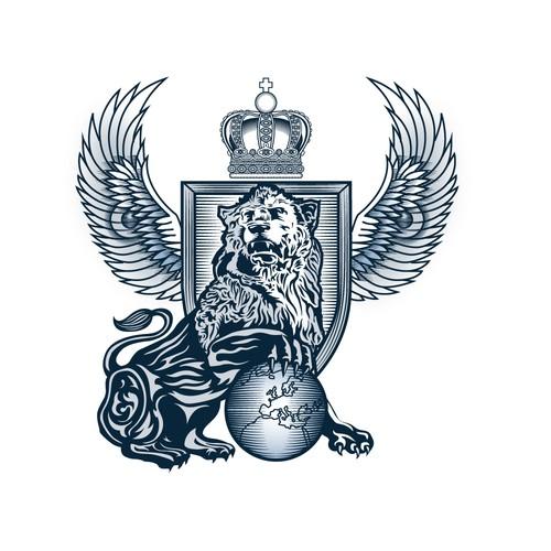 Woodcut style logo
