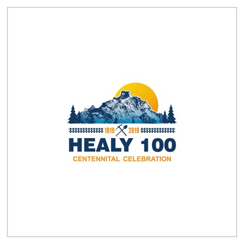 mount centennital logo concept for healy 100 celebration