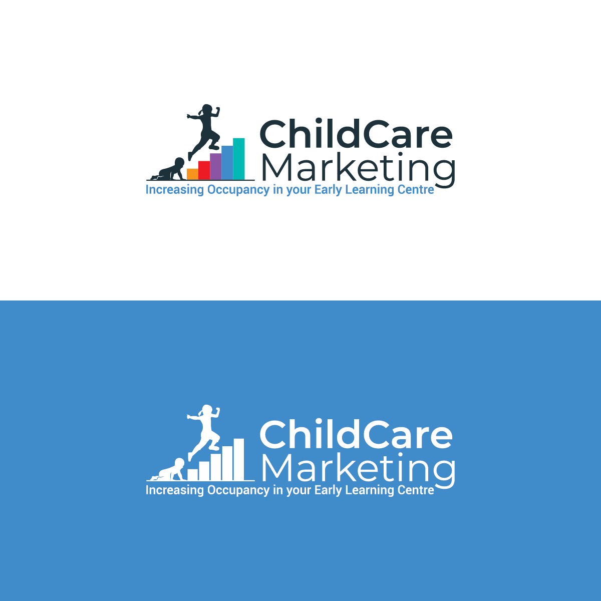 Child Care Marketing - Business to Business - Logo with Slogan