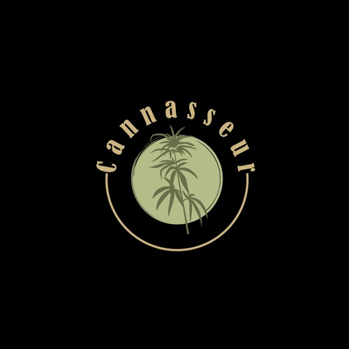 Luxurious logo to appeal to high-end weed consumers.