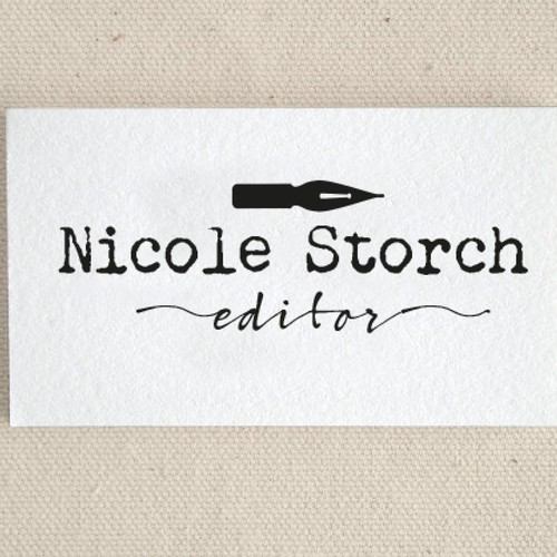Business card logo concept for editor