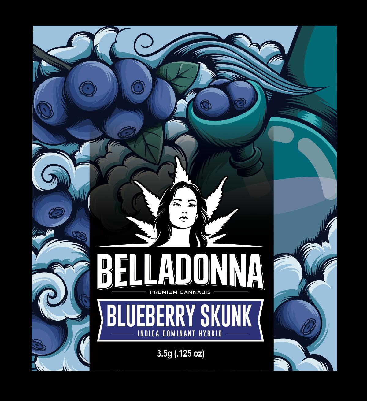 Blueberry Skunk Label