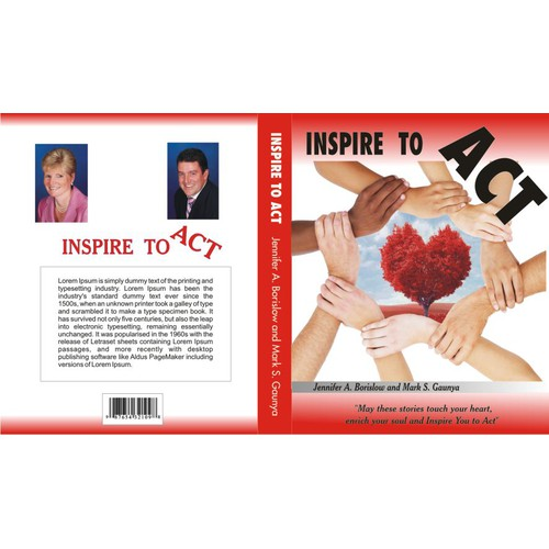 "Be ""Inspire(d) to Act"" - Cover Design for book encouraging corporate philanthropy. Guaranteed!"
