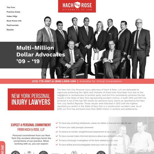 Law Company Website Design