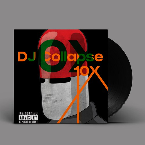 Album cover design for DJ COLLAPSE new song 10X