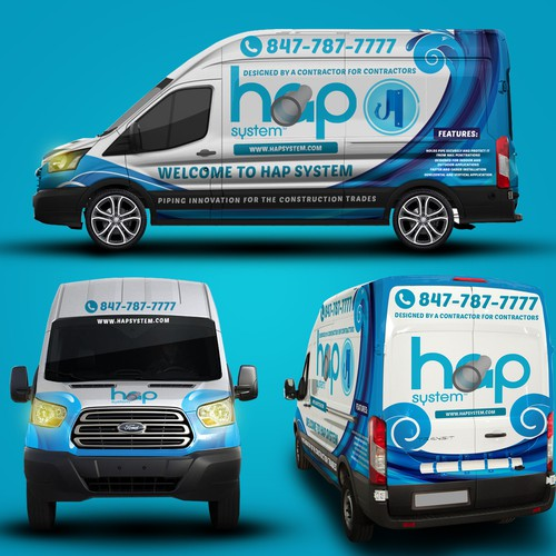 Ford Transit 250 Car Wrap for HAP System