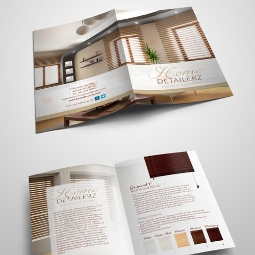 High class modern style brochure