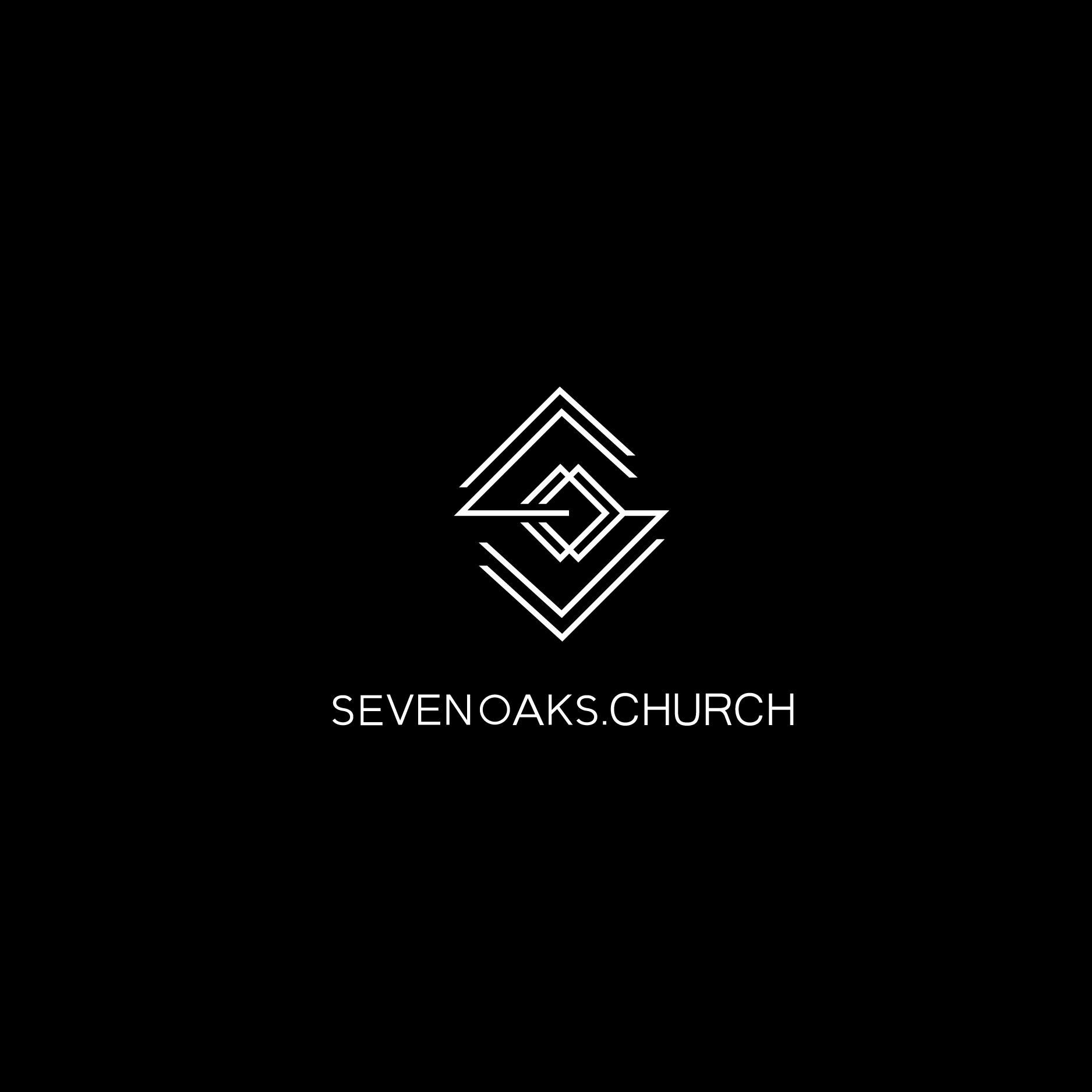 Clean minimalist abstract logo for plant church