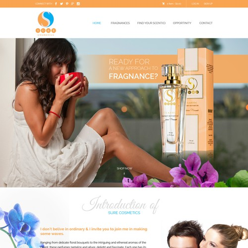 sure cosmetics website re-design