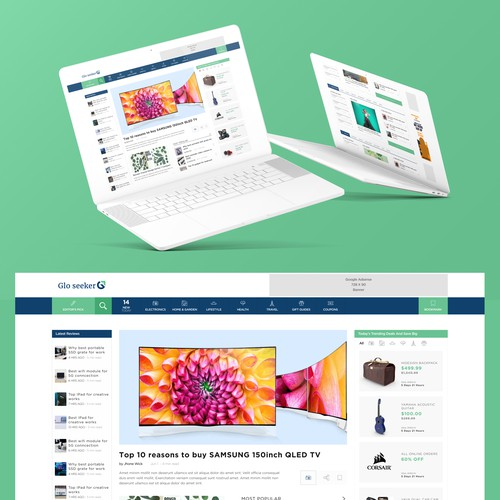 Blog Design for Product Review