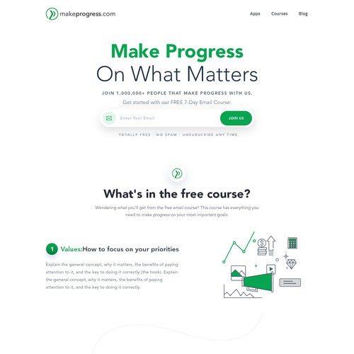 Design MakeProgress.com, an upcoming personal development website