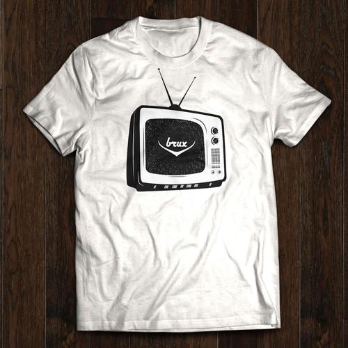 Retro TV  design for a t-shirt