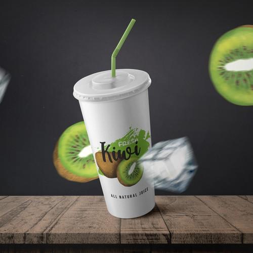 Kiwi juice cup package design
