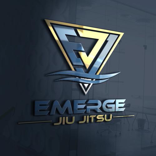 Sharp and dinamic emerge logo