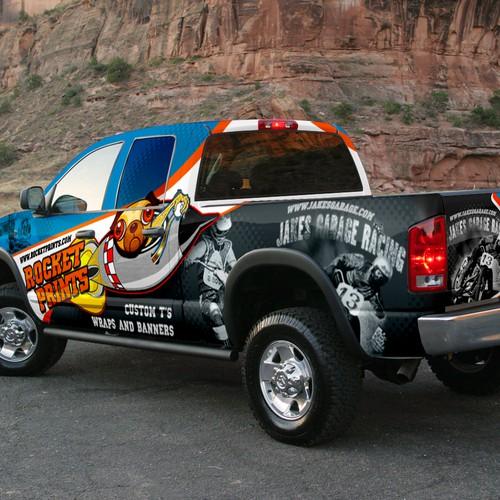 Truck Wrap Design for Rocket Prints