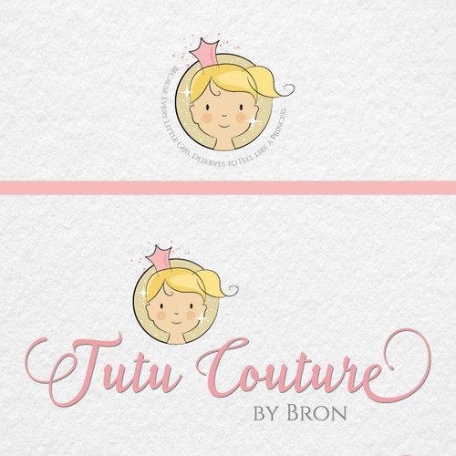 Cute princess logo for children's boutique