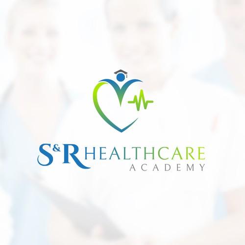 Creative logo for S&R Healthcare Academy logo