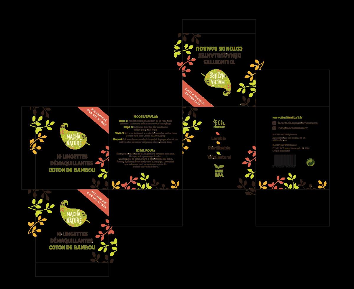 Packaging pour une gamme de produits à base de bambou