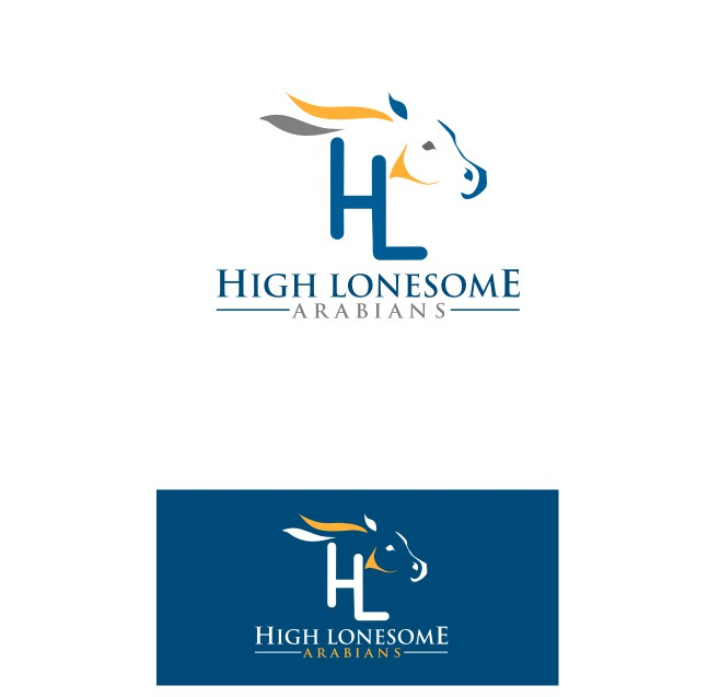 Create the next logo for High Lonesome Arabians
