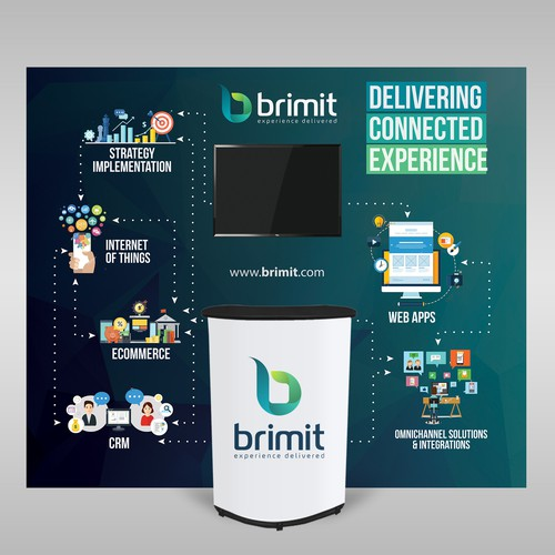 Brimit Trade Show Backdrop