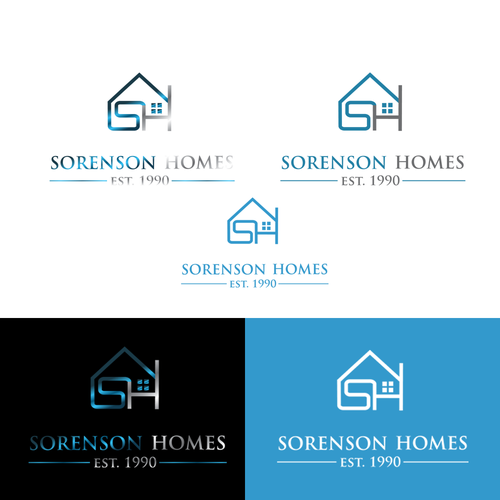 Create a capturing logo for custom home builder