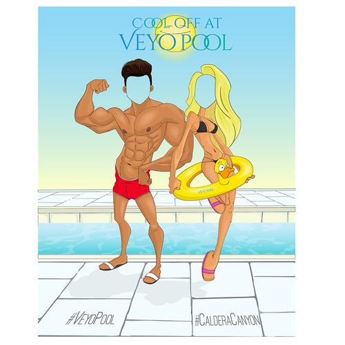 Comic foreground for Veyo Pool at Caldera Canyon