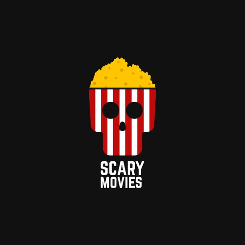 Horror movie related logo concept