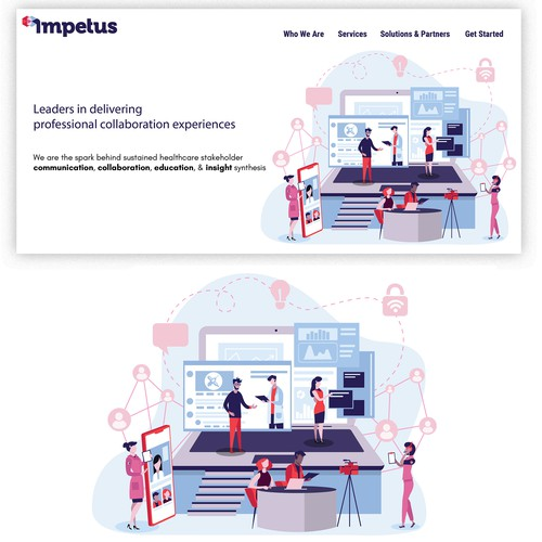 Homepage illustration for Impetus