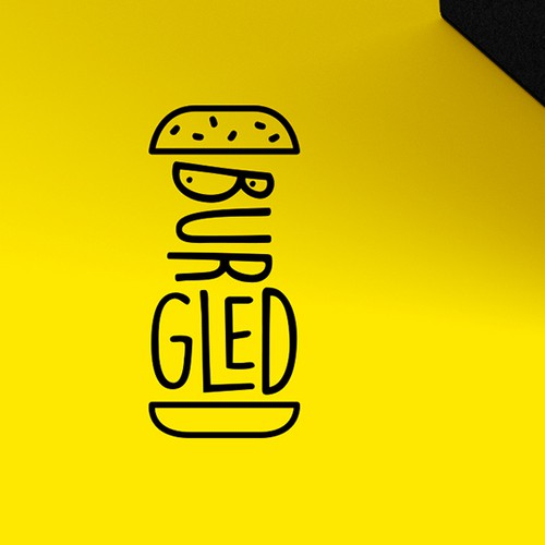 Logo for a box of burger BBQ for picnics.