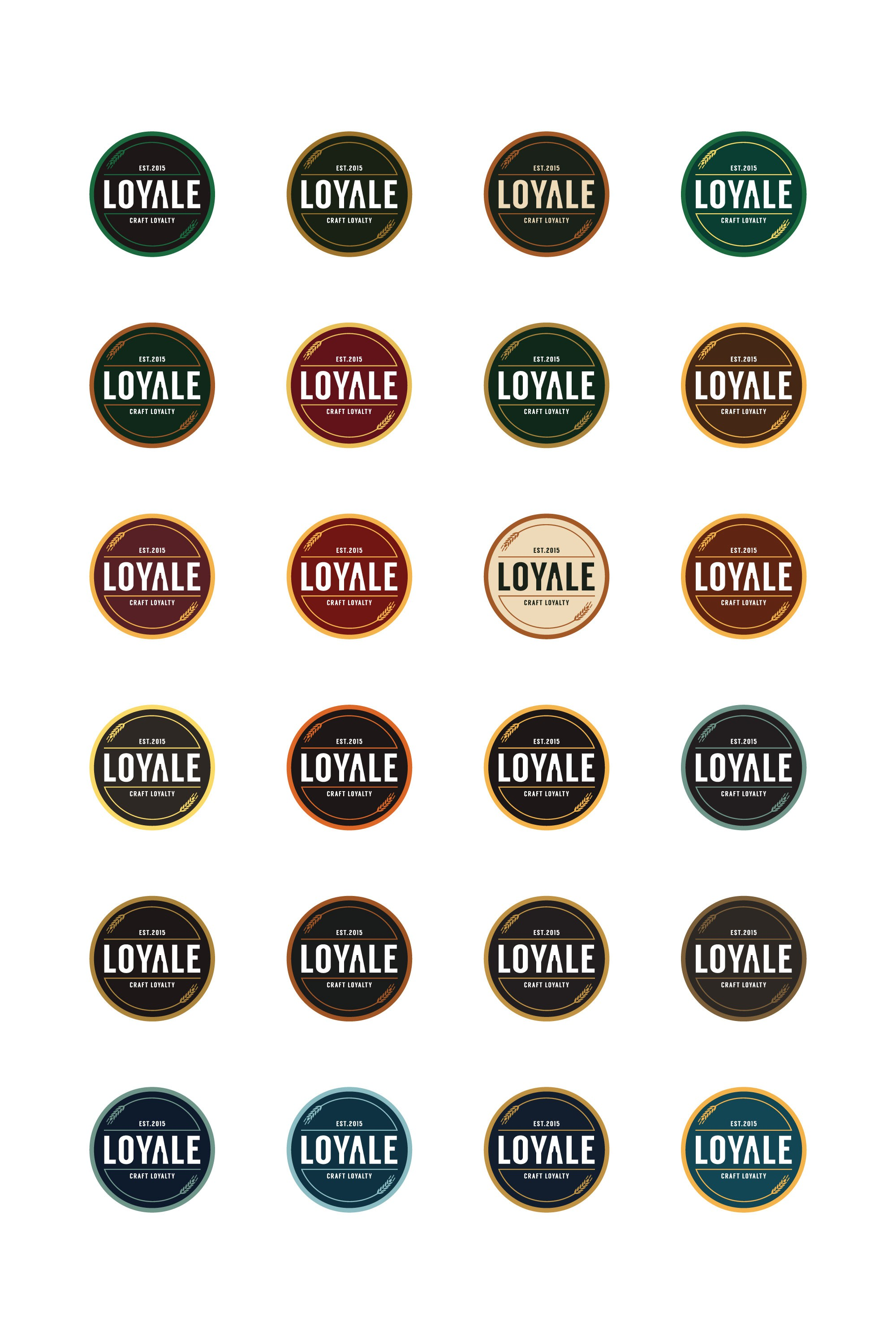 Create a craft beer logo for a customer loyalty program