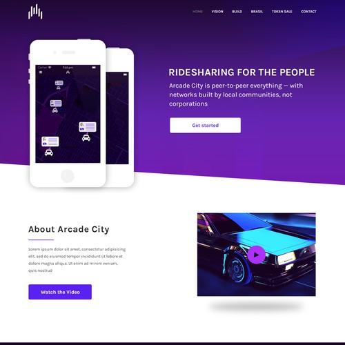 Arcade City website (Peer-to-peer ridesharing)