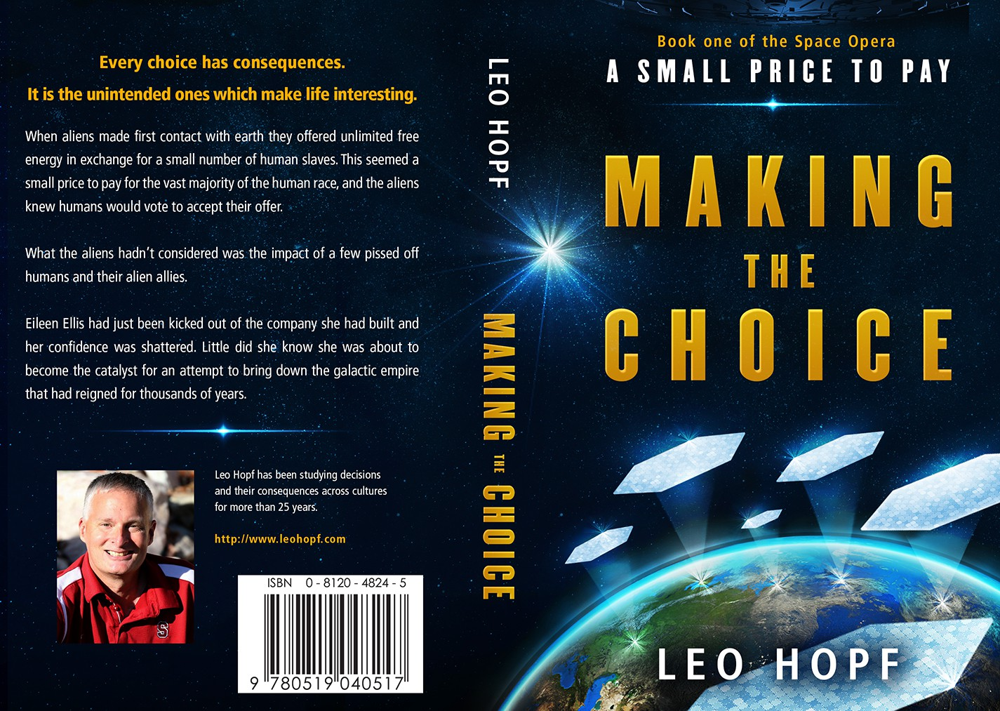 "Science Fiction Book Cover - ""Making the Choice"""