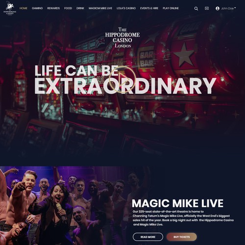 Site design for casino