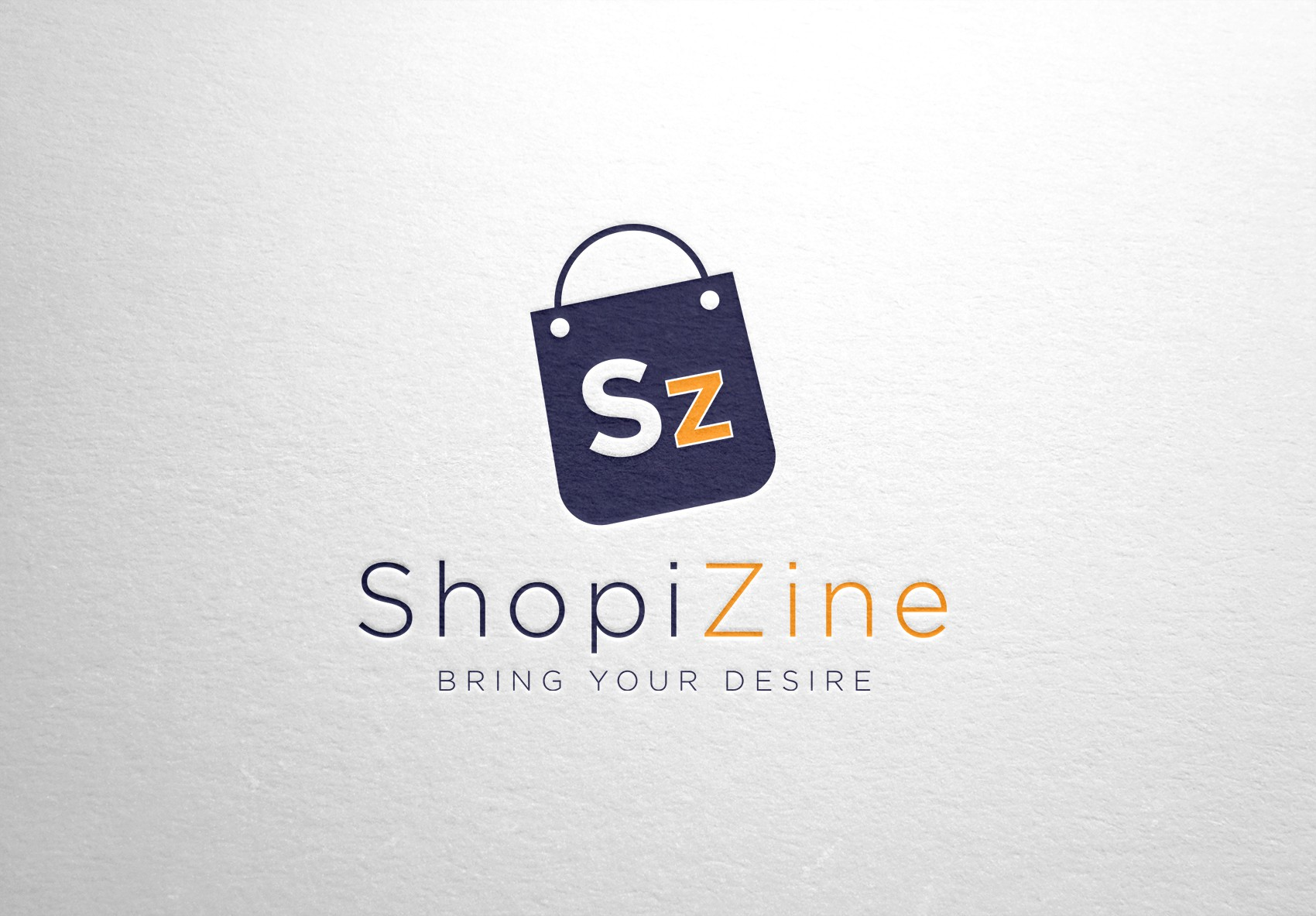 "Create a stuning logo for mobile shopping app for startup name ""ShopiZine"""